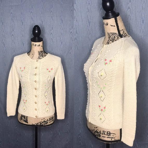 1950s cardigan/ Vintage 1950s Smith's of BERMUDA c