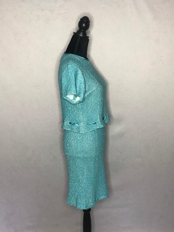 1960s knit set/ vintage 1960s tweed knit set. - image 6