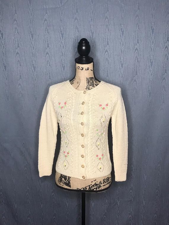 1950s cardigan/ Vintage 1950s Smith's of BERMUDA … - image 2