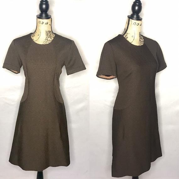 1960s dress/ Vintage 1960s mod dress