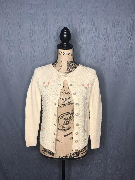 1950s cardigan/ Vintage 1950s Smith's of BERMUDA … - image 4