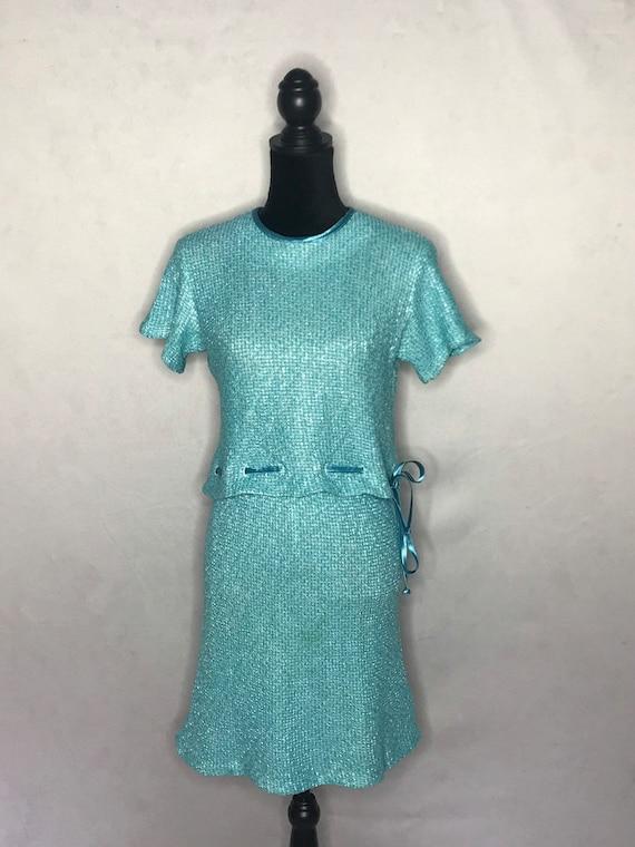 1960s knit set/ vintage 1960s tweed knit set. - image 5