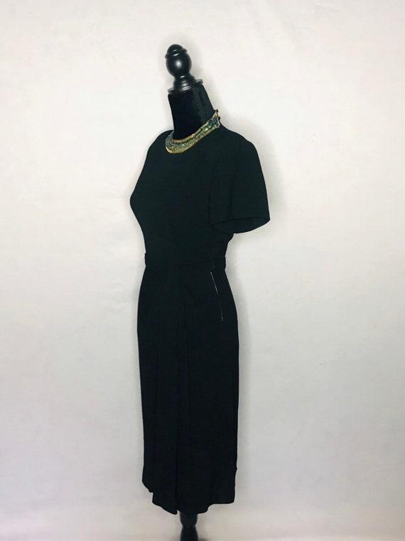 1940s dress/ Vintage 1940s rayon crepe dress - image 6
