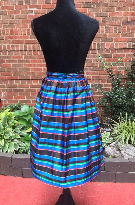 1950s skirt/ Vintage 1950s tartan skirt - image 9