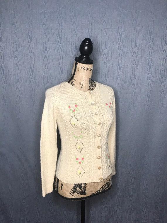 1950s cardigan/ Vintage 1950s Smith's of BERMUDA … - image 7