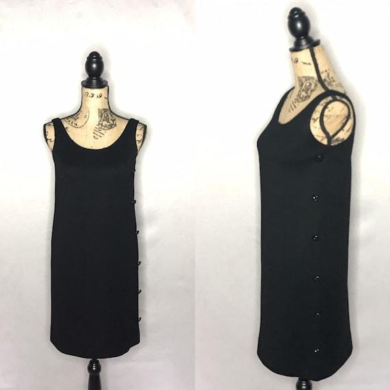 1960s mod dress/ vintage 1960s mod LBD - image 1