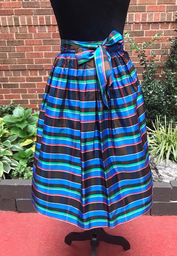 1950s skirt/ Vintage 1950s tartan skirt - image 2