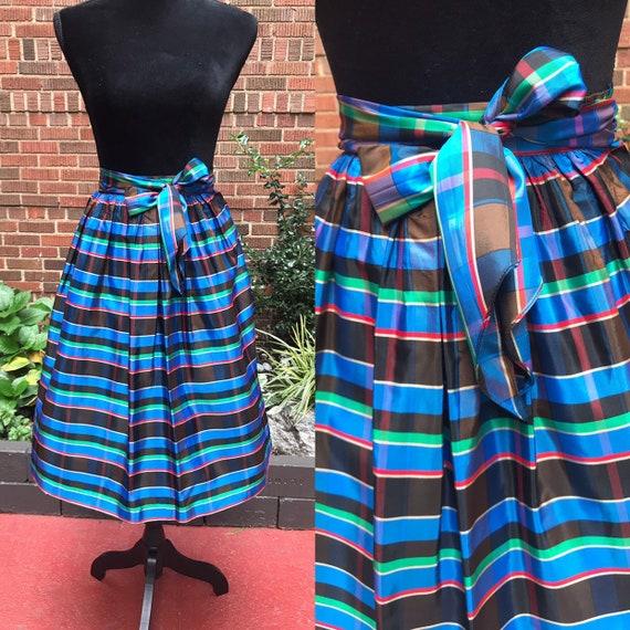 1950s skirt/ Vintage 1950s tartan skirt