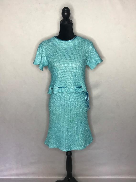 1960s knit set/ vintage 1960s tweed knit set. - image 4