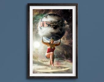 Wonder Woman - Cosmos Series - Limited Art Print