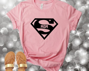 b647fac91 Super Hero Shirt, Super Mom Shirt, Superman Shirt, Super Hero Tshirt, Super  Mom Tshirt, Super Mom Tee, Mom Life Shirt, Womens Shirts