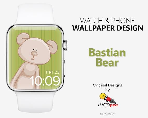 Bastian Bear Watch Phone Wallpaper Apple Watch Face Etsy