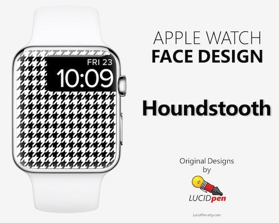 Houndstooth Apple Watch Wallpaper High Fashion Apple Watch Face Background Watch Face Wallpaper Custom Apple Watch Art Fashion Design