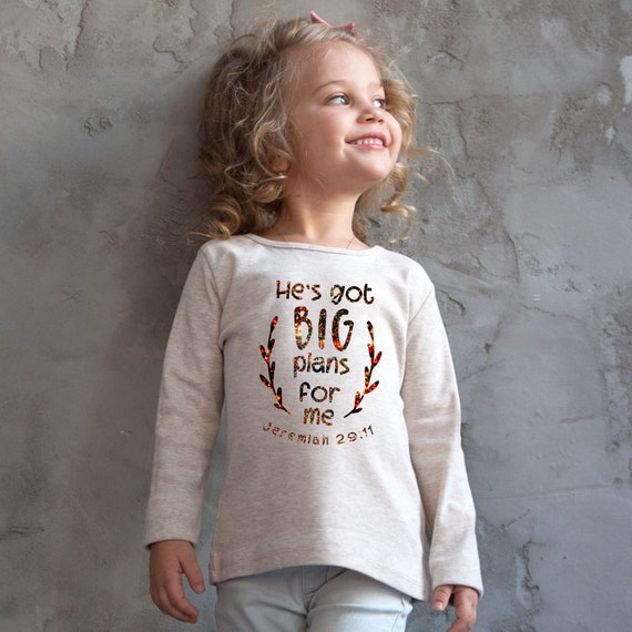 Toddler Long Sleeve Tee He Has Big Plans for Me