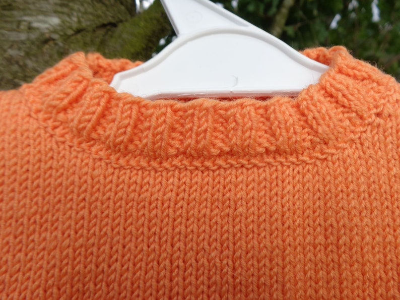 baby girl sweater and cardigans knitted Handmade wool acrylic orange and fuschia wear Sweater two-tone baby girl 12 months