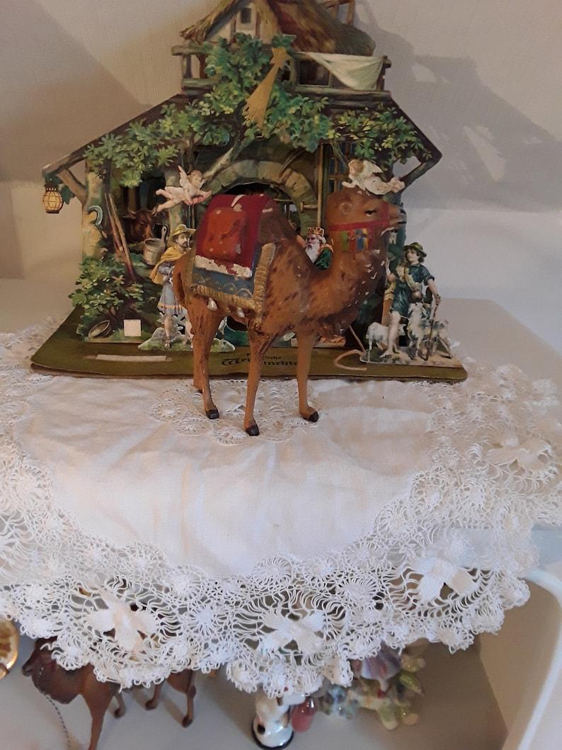 Christbaumkugeln Pappmache.Altes Kamel Krippefigur Großes Antikes Seltenes Pappmache Kamel Pappmachekamel 12 Cm Rarität Weihnachtsdeko Vintage