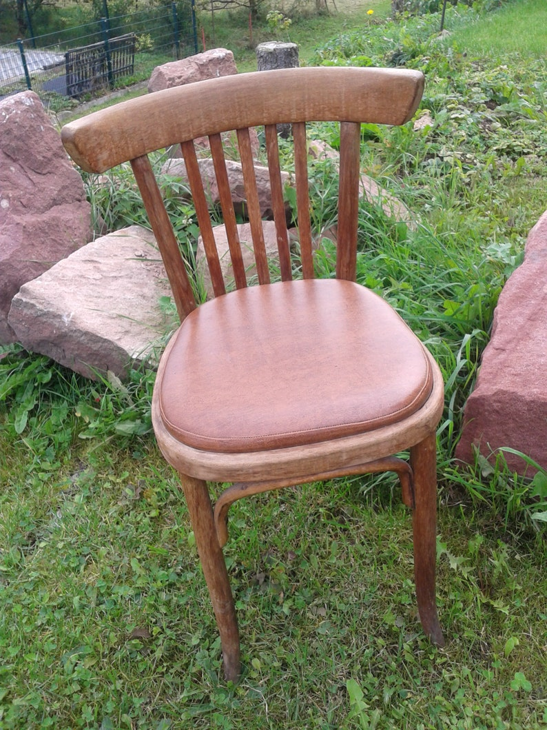 Old wooden chair thonet chair bentwood chair upholstery chair Viennese  THONET chair kitchen chair, Artdeco, vintage