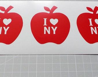 Set 10 adesivi che adesivo Logo New York che ti amo I Love New York simbolo  vinile adesivo 8f10012505c0