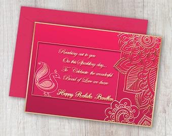 graphic about Raksha Bandhan Printable Cards named Content rakhi card Etsy