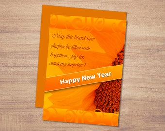 happy new year greeting card printable new year card newyear wish beautiful new year cardinstant download