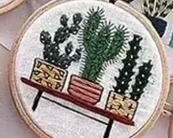 """Siesta Frames Bambú Bordado Aro 8/""""//20 Cm"""