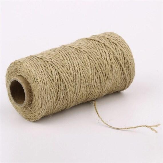 10-100m Natural Jute Burlap Hemp Twine String Cord Rope for Arts Craft Gift CA