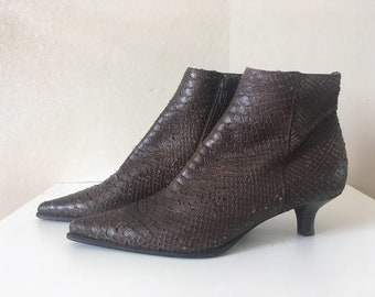 ae7a8188f582 BOSS by Hugo Boss leather snake skin ankle boots