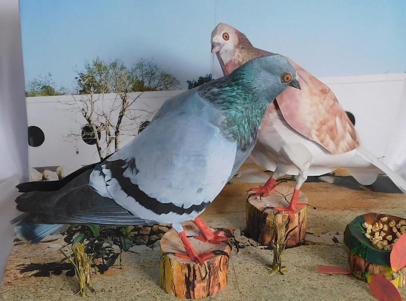 paper craft bird pigeon