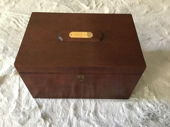 vintage tea party vintage home decor Vintage Wooden JewelryTea Box vintage storage metal legs vintage vanity decor
