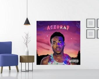 Chance The Rapper Acid Rap Album Music Poster Cover Art Silk Decor Print