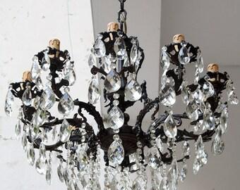 Crystal chandelier lighting etsy popular items for crystal chandelier lighting aloadofball Images