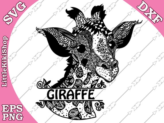 Baby Giraffe Svg Mandala Giraffe Svg Monogram Etsy