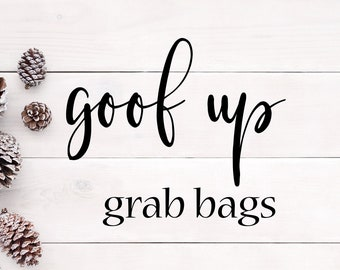 GOOF UP Grab Bags   Glitch Bundle   Oops Bags   Planner, Bullet Journal & Agenda Stickers   Foil Stickers