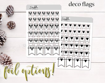 DECO Flags   Heart & Bow Flags   Planner, Journal and Agenda Stickers   Foil Stickers