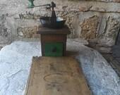 Antique handmade coffee grinder, XIX century Ottoman period coffee grinder