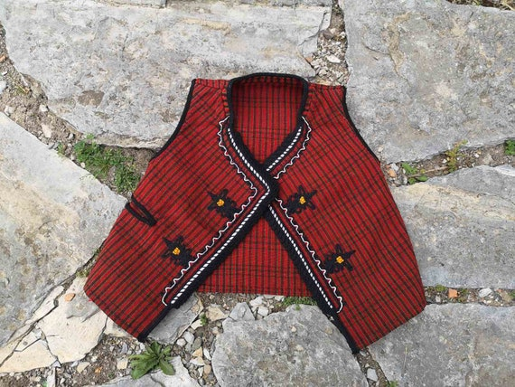 Handmade woven men's vest, small size men's ethnic