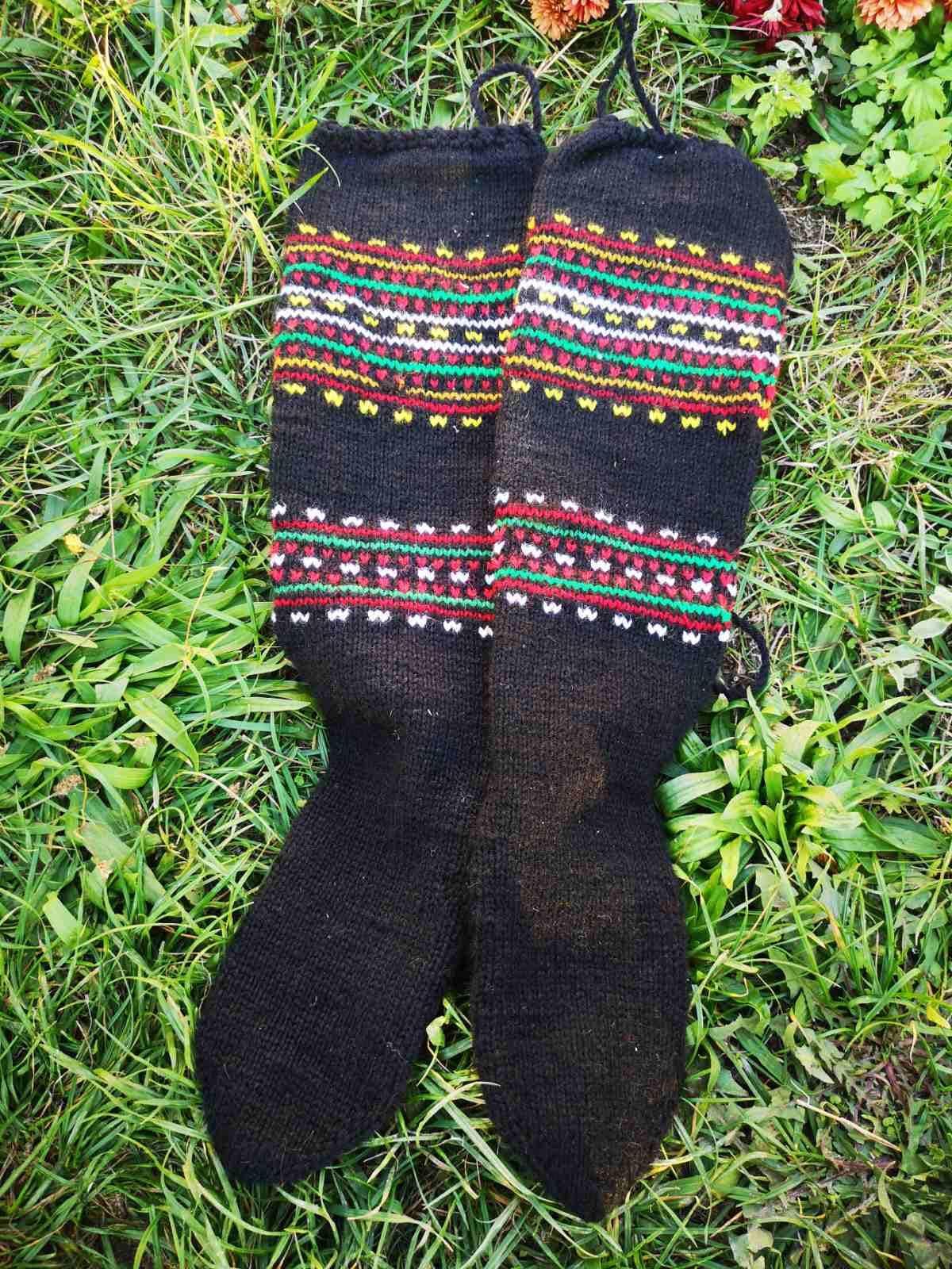 Men's 1920s Style Ties, Neck Ties & Bowties Hand Knitted Old Ethnic Mens Socks, Skopska Blatija Socks $19.99 AT vintagedancer.com
