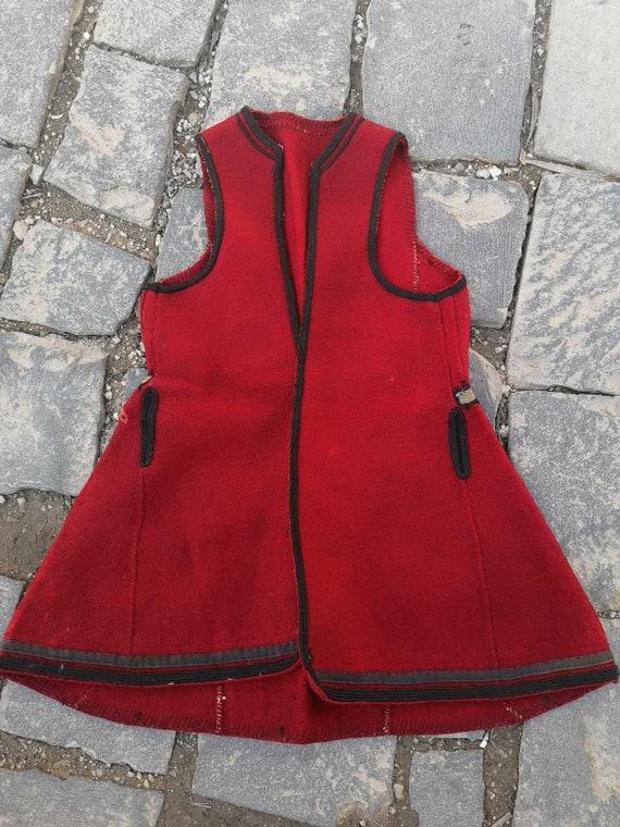 """Handmade antique vest, Strusko Pole vest """"Dzube"""""""