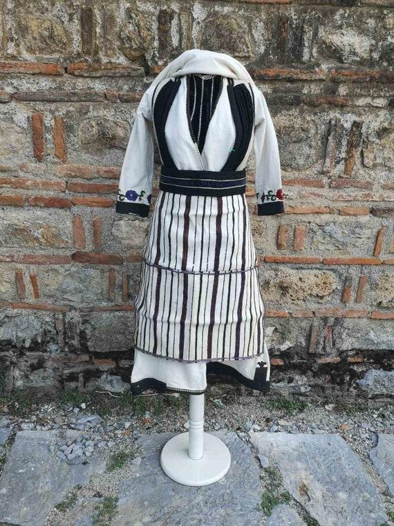 Women's ethnic antique costume from Bitola region