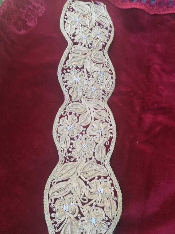 Gold thread hand embroidered vintage vest, Ottoman