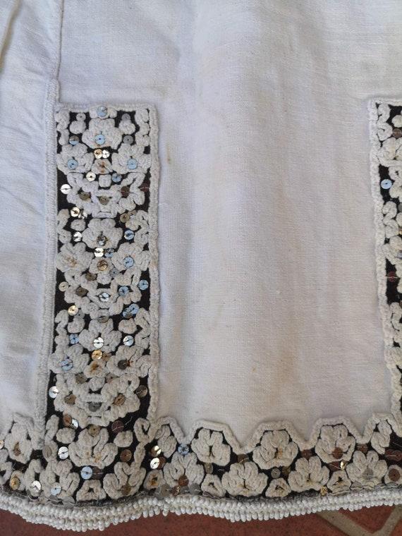 Long antique shirt, ethnic dress from Prilepsko P… - image 5