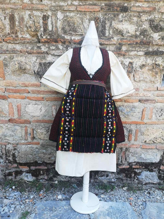 Handmade antique women's ethnic costume from east