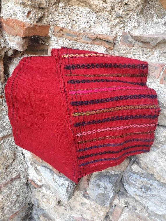 Men's long belt, woven ethnic men's belt