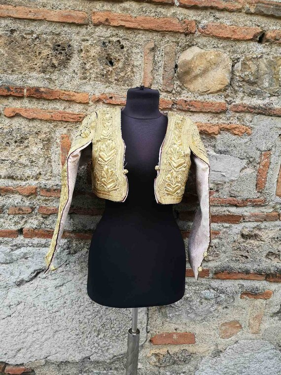 Gold thread embroidered Albanian vest, Ottoman inf