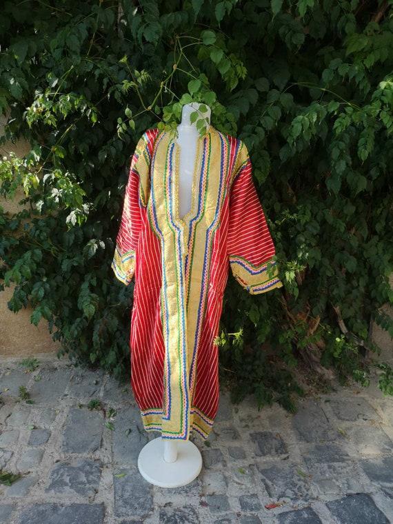 Long silk gown, handmade, hand embroidered silk go