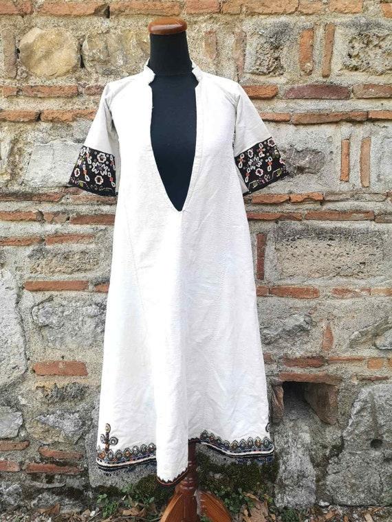 Women's antique woven long shirt, ethnic woven Bit