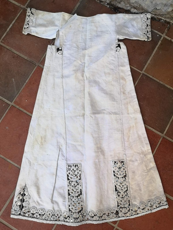 Long antique shirt, ethnic dress from Prilepsko Po