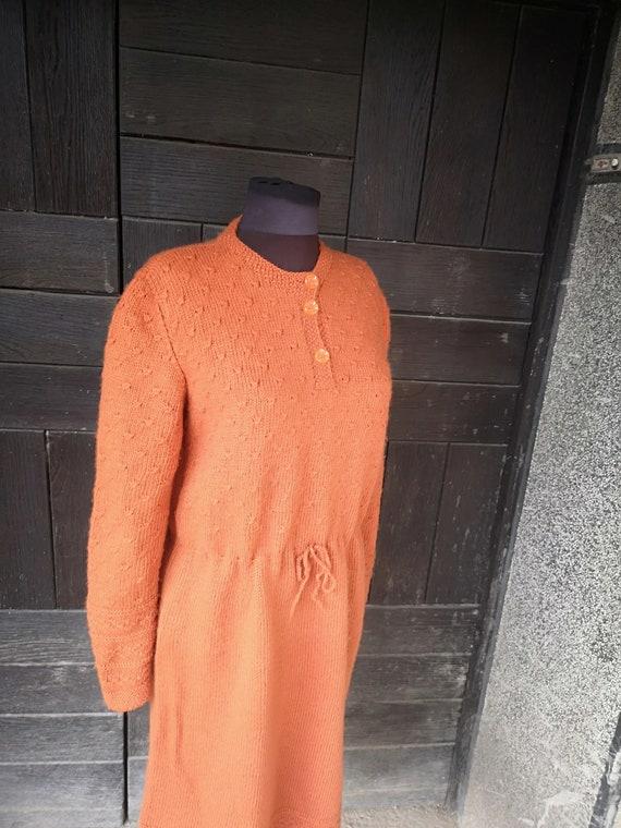 Vintage knitted women's dress, Autumn - winter vin