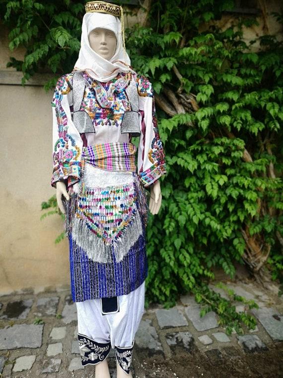Ethnic women's costume, Torbeshi handmade ethnic c