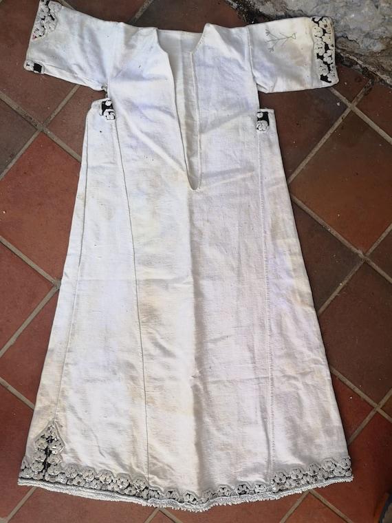 Long antique shirt, ethnic dress from Prilepsko P… - image 3
